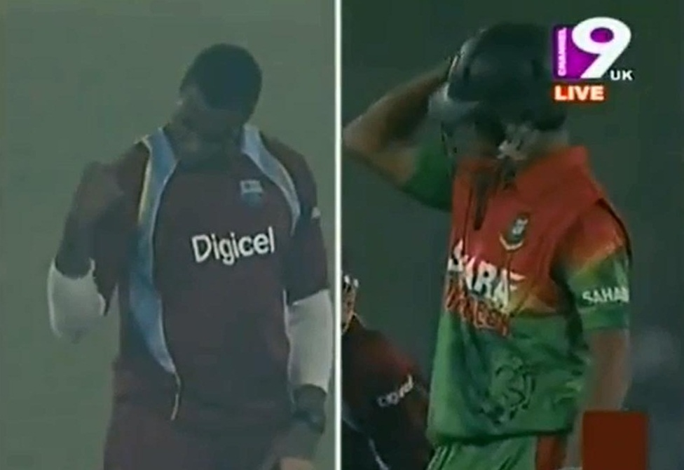 Nasir Hossain against Pollard