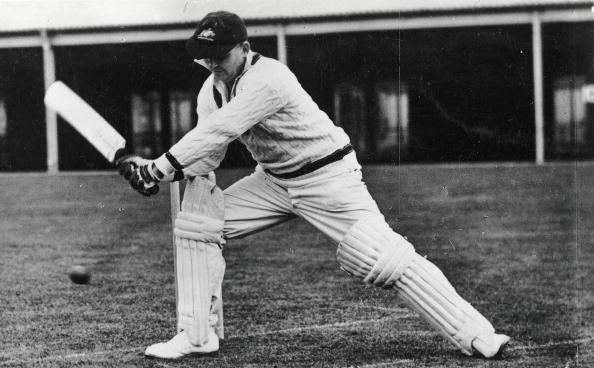 Cricket. Circa 1930. A picture of SJ (Stanley Joseph) McCabe, the Australia Vice-Captain, and New South Wales legendary right handed batsman, seen here attempting to play a shot.